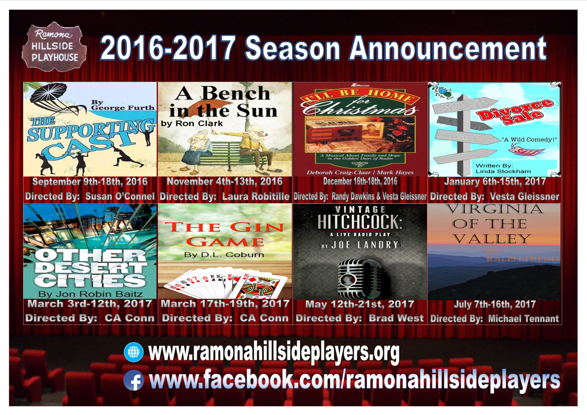 RHP Season Announcement 2016-2017